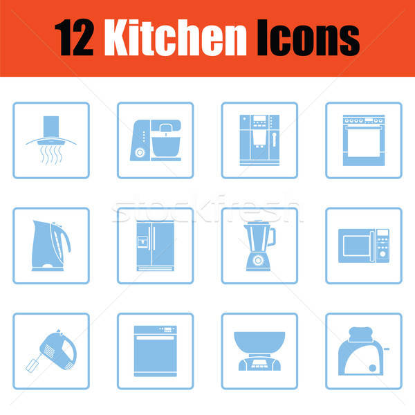Kitchen icon set Stock photo © angelp