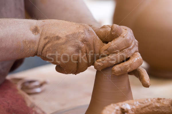 Working hands. Stock photo © angelsimon