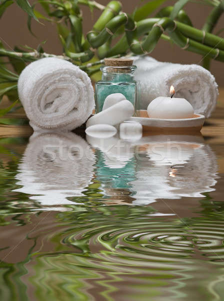 Spa natürmort temizlik dekoratif su sağlık Stok fotoğraf © angelsimon