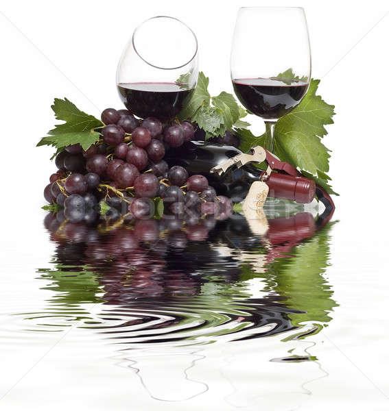 Lezzetli natürmort beyaz şarap meyve Stok fotoğraf © angelsimon