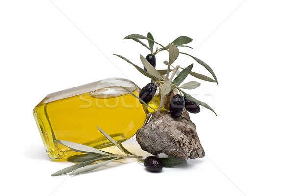 Sağlıklı yağ bakire zeytinyağı zeytin yalıtılmış Stok fotoğraf © angelsimon