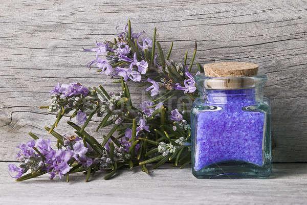 Rosemary and bath salts. Stock photo © angelsimon