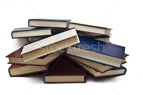 Confuso livros velho isolado branco escolas Foto stock © angelsimon