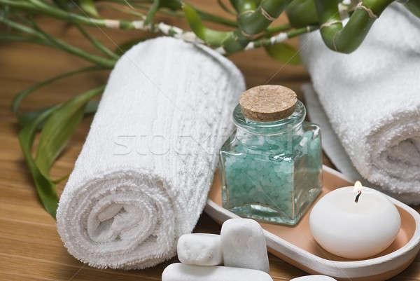 Igiene verde ancora vita spa decorativo acqua Foto d'archivio © angelsimon