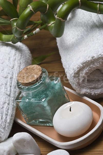 Spa ontspannen stilleven hygiëne decoratief water Stockfoto © angelsimon