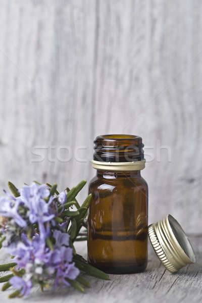 Bottle with rosemary essence. Stock photo © angelsimon