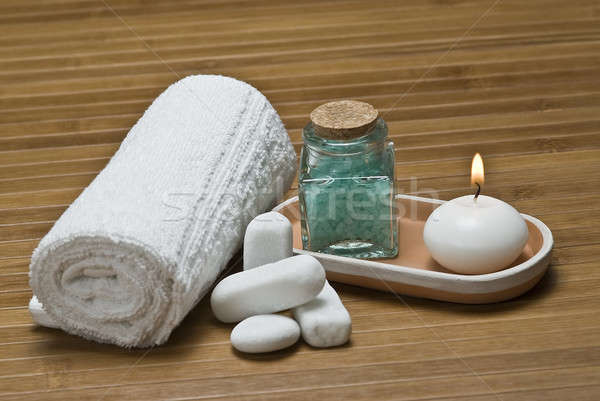 Foto stock: Vela · estância · termal · natureza · morta · higiene · decorativo · água