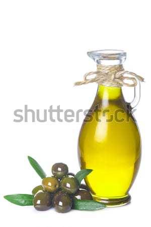 Olijfolie een groene olijfolie witte textuur Stockfoto © angelsimon