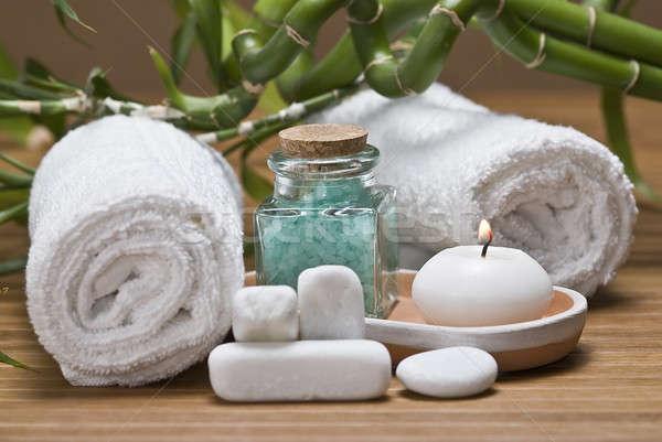 Hygiëne stilleven spa decoratief water gezondheid Stockfoto © angelsimon