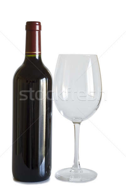Glass and bottle of wine. Stock photo © angelsimon