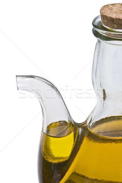 Parça yağ konteyner şişe bakire zeytinyağı Stok fotoğraf © angelsimon