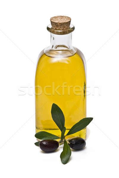 Ruw olie zwarte olijven maagd olijfolie olijven Stockfoto © angelsimon