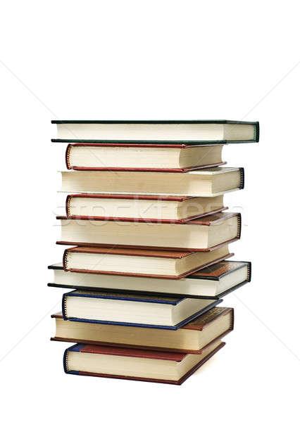 On kitaplar eski yalıtılmış beyaz okul Stok fotoğraf © angelsimon