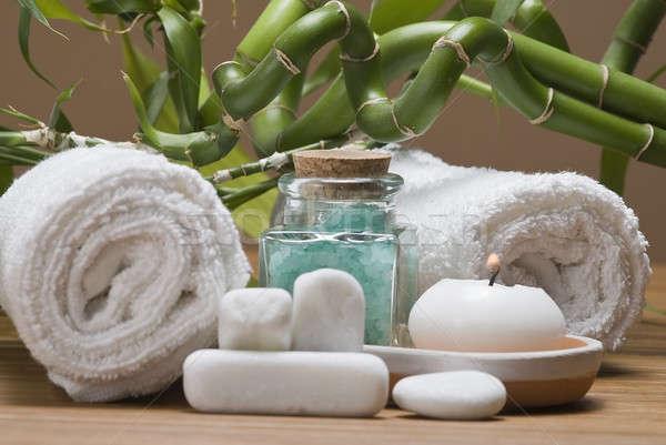 Dinlenmek natürmort spa temizlik dekoratif su Stok fotoğraf © angelsimon