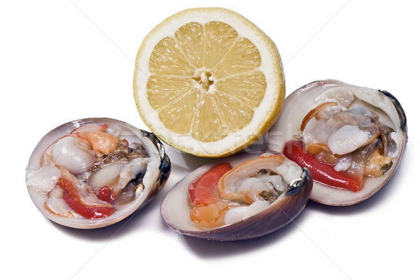 Clams and lemon to eat. Stock photo © angelsimon