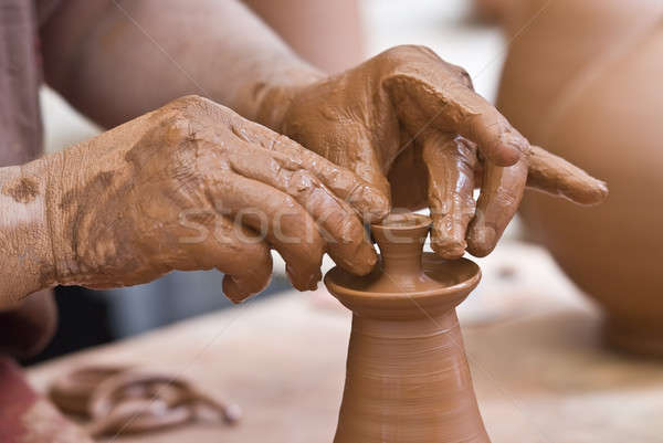 Potter at work. Stock photo © angelsimon