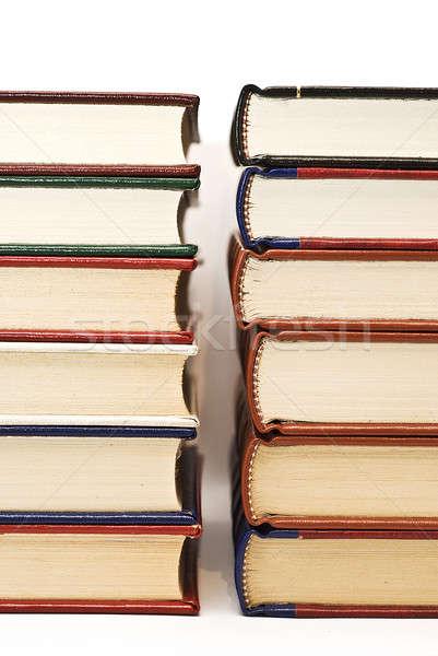 Livro velho livros isolado branco escolas Foto stock © angelsimon