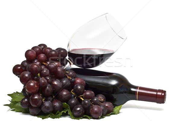 Naturalismo vinho tinto natureza morta branco vinho fruto Foto stock © angelsimon