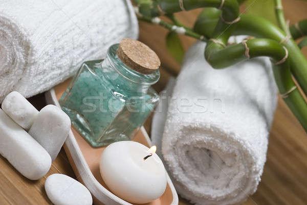 Mum banyo natürmort spa temizlik dekoratif Stok fotoğraf © angelsimon