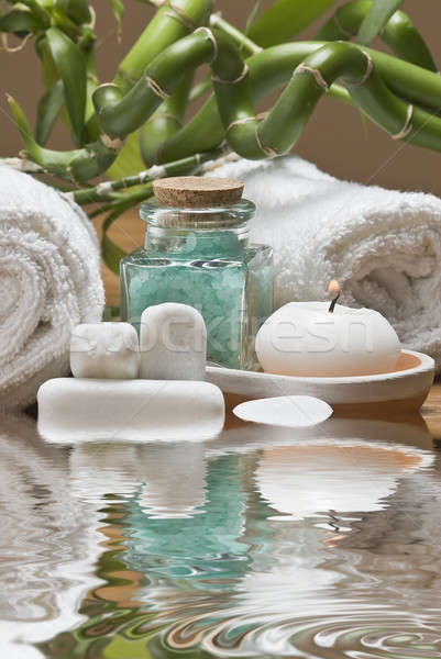 Verde branco natureza morta estância termal higiene decorativo Foto stock © angelsimon