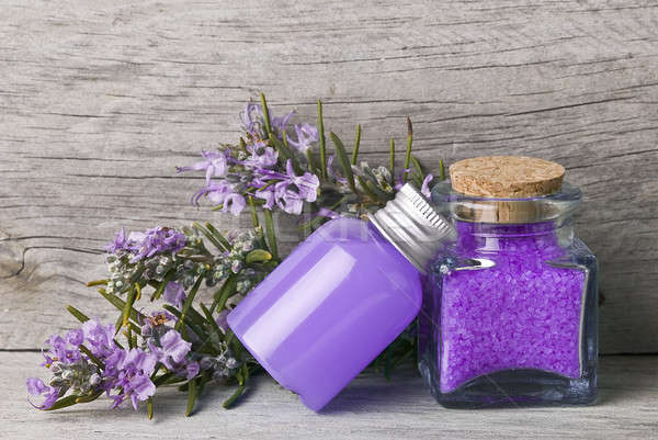 Rosemary gel and bath salts. Stock photo © angelsimon