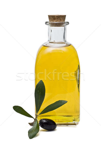 One olive and a blttle of oil. Stock photo © angelsimon