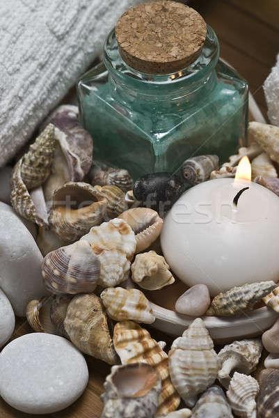 Schelpen spa stilleven hygiëne decoratief water Stockfoto © angelsimon