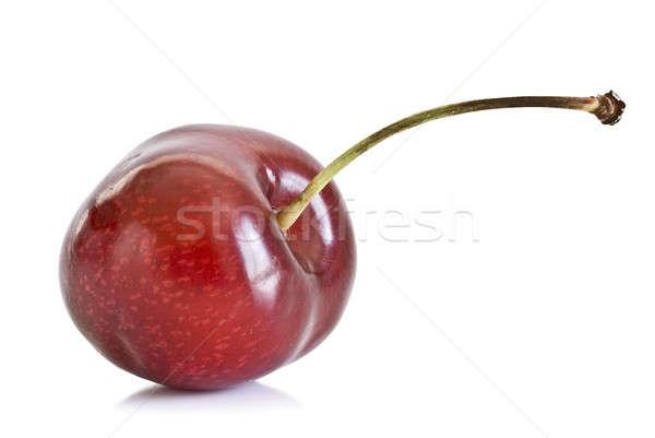 Vers kers kersen geïsoleerd witte vruchten Stockfoto © angelsimon