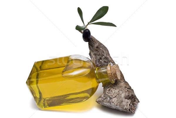 şişe şube bakire zeytinyağı zeytin yalıtılmış Stok fotoğraf © angelsimon