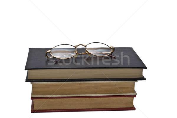 óculos ler velho livros par isolado Foto stock © angelsimon
