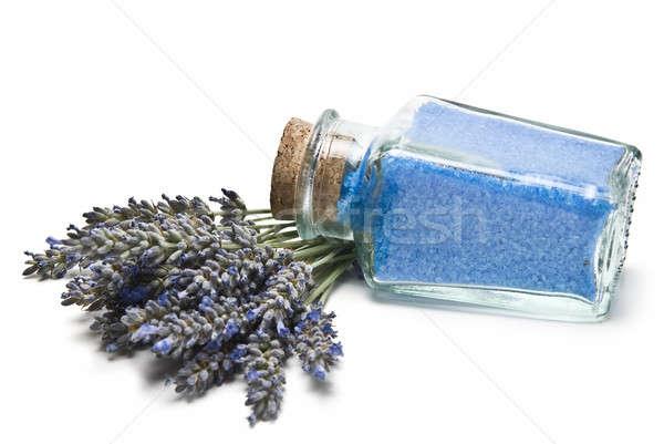 Jar with lavender bath salts. Stock photo © angelsimon