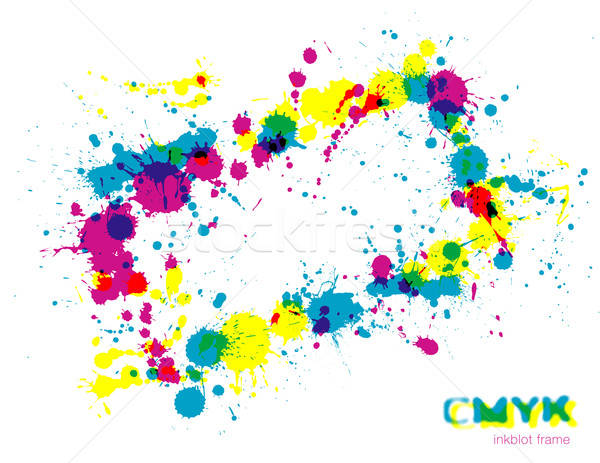 кадр копия пространства дизайна краской печать черный Сток-фото © Anja_Kaiser