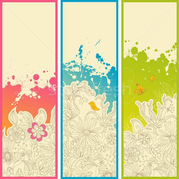 магия саду Баннеры вертикальный цветочный Сток-фото © Anja_Kaiser