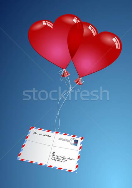 воздуха почты два шаров бумаги любви Сток-фото © Anja_Kaiser