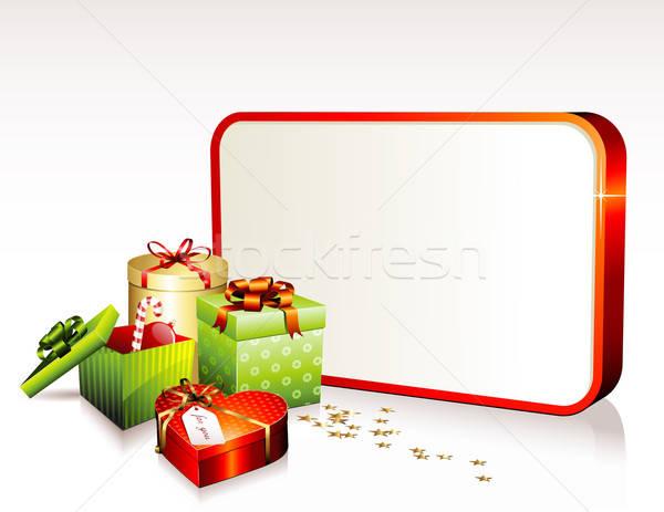 Рождества знак звезды конфетти Сток-фото © Anja_Kaiser