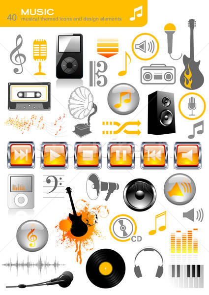 Stock photo: music icons