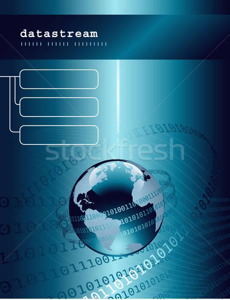 Tech tecnologia mondo codice binario internet vetro Foto d'archivio © Anja_Kaiser