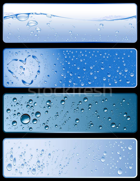 Stock photo: water banners