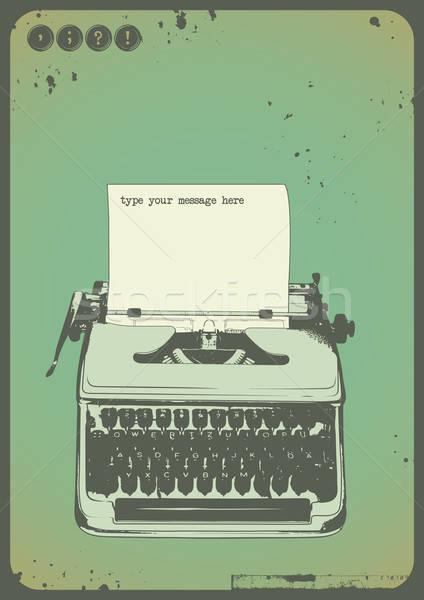 vintage typewriter Stock photo © Anja_Kaiser