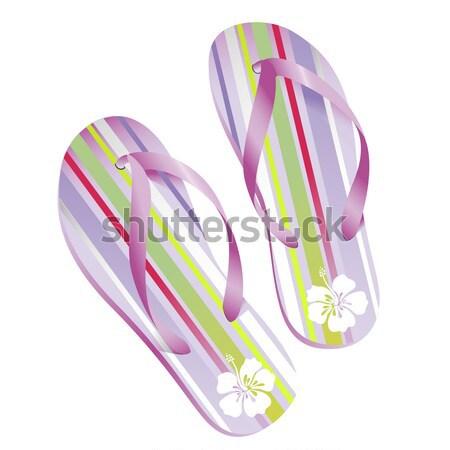 2 ビーチ サンダル 夏 海 靴 ストックフォト © Anja_Kaiser