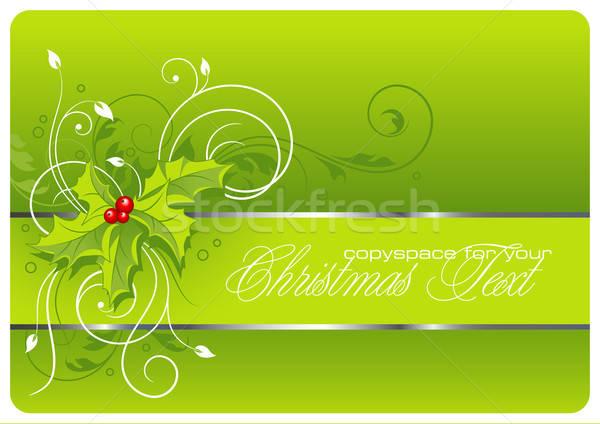 Natale floreale vacanze inverno wallpaper grafica Foto d'archivio © Anja_Kaiser