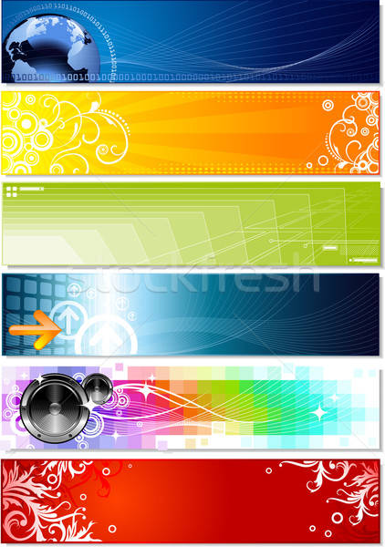 six colorful banners on different topics  Stock photo © Anja_Kaiser