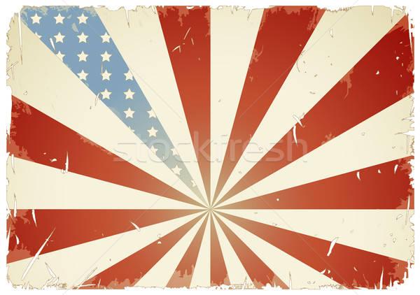 Amerykańską flagę gwiazdki banderą retro kolory Zdjęcia stock © Anja_Kaiser