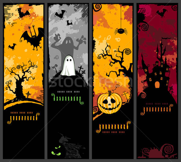 Stock photo: vertical halloween banners
