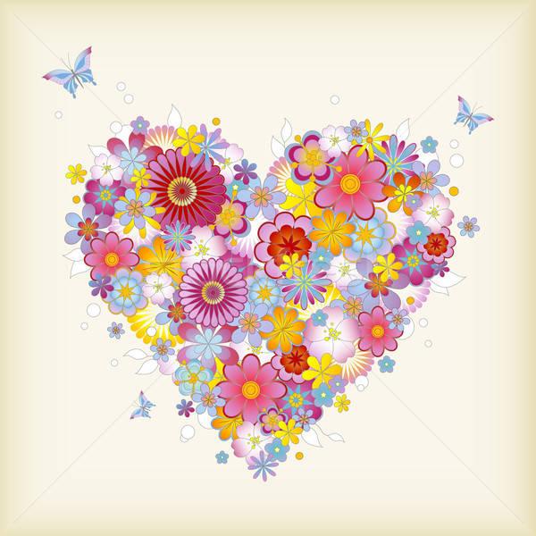 цветочный сердце бабочки идеальный цветок Сток-фото © Anja_Kaiser