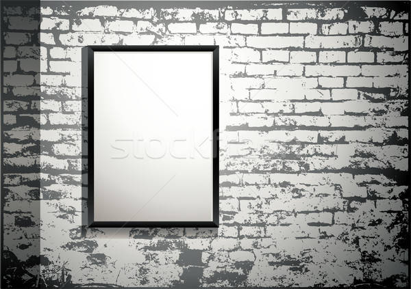 Esposizione frame vecchio muro di mattoni particolare Foto d'archivio © Anja_Kaiser