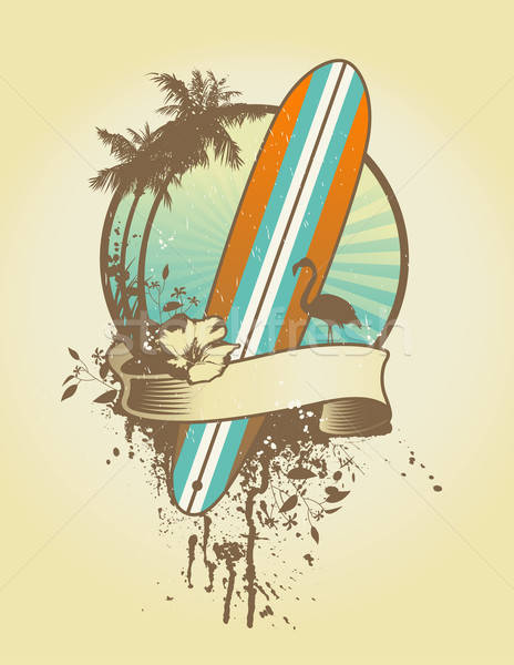 Stock photo: surf emblem