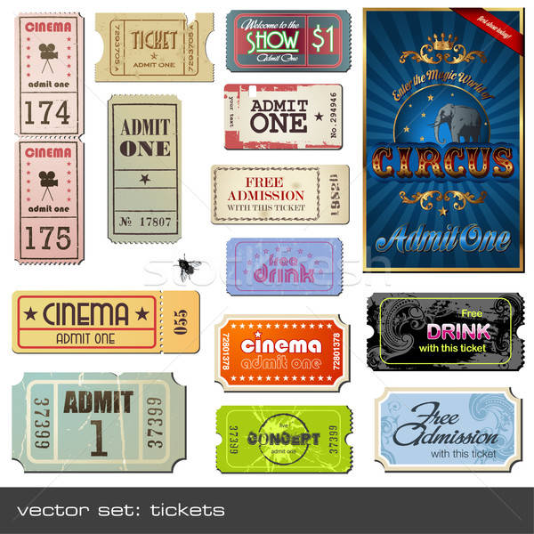 Stock photo: vector set: tickets