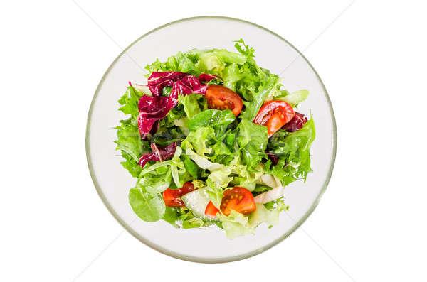 Saladeira isolado branco salada vidro Foto stock © anmalkov