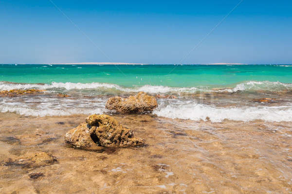 красивой лазурный волны пород Египет Сток-фото © anmalkov